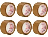 Packatape - 6 rouleaux de ruban d'emballage marron de 48 MM x 66 M pour colis et boîtes de bande de conditionnement