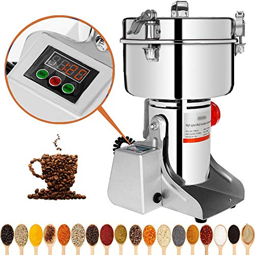 Marada 1000g Electric Mill Grinder Stainless Steel 110V Pulverizer Grinding Machine for Kitchen Herb Spice Pepper Coffee Powder Grinder (1000g)