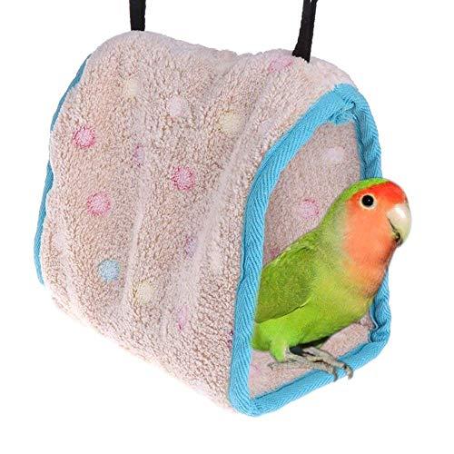 LIIYANN Oiseau perché en Coton Oiseau Suspendu Oiseau Hamster Hamac Triangle Nid Cage Cave Cave Peluche Cabine Tente Lit Double Perroquet Jouet La Chaleur du Printemps