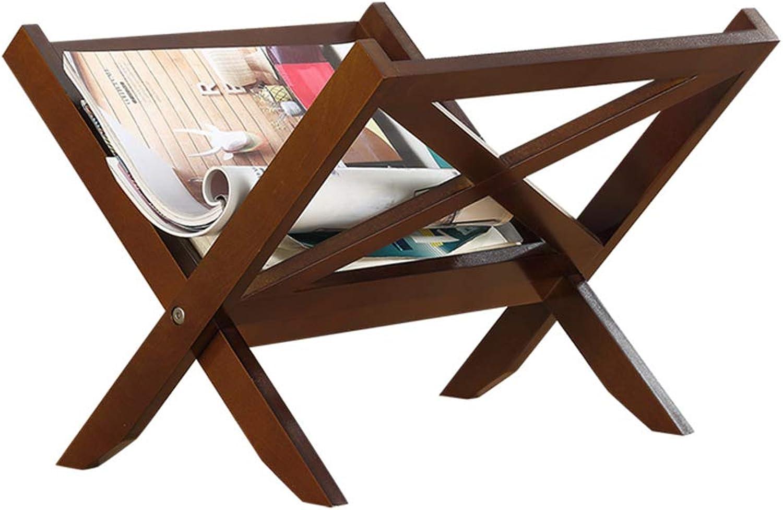 Feifei Newspaper Rack Simple Table Shelf Mini Home Newspaper Rack Folding Bookshelf (color   01)