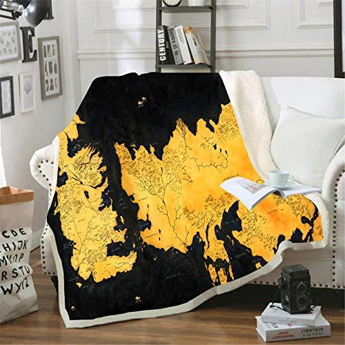 Itscominghome - Manta y mantas de juego de Tronos, impresión en 3D, para sofá, dormitorio, viaje, etc. (trones 10,100 x 140 cm)