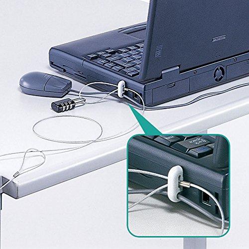『サンワサプライ ノートパソコン&マウスセキュリティ(セキュリティワイヤー・取付金具・ダイヤル錠セット) SL-21』の1枚目の画像
