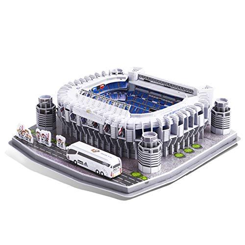 GuDoQi 3D Puzzle für Jungen Mädchen und Erwachsene, Santiago Bernabeu Fussballstadion Jigsaw Puzzle, Familienspiele für Kleine Kinder und Eltern, DIY Montage Spielzeug Geschenk, 160 Teile