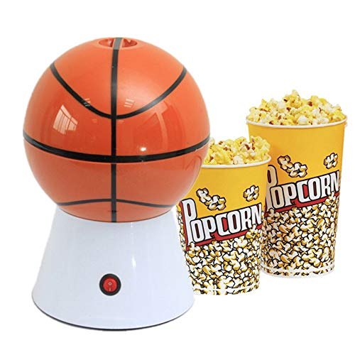 FLSWROR Popcorn Machine Home Hot Air Mini Popcorn Machine Home Kitchen the Best Gift for Ball Lovers-A