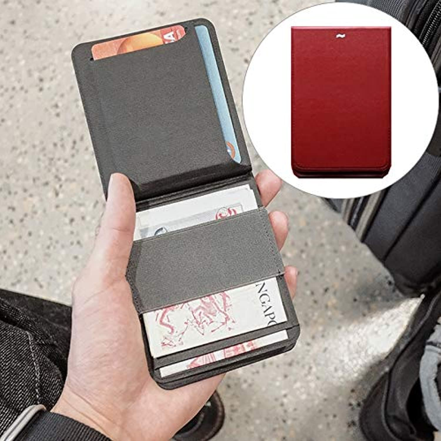 Creative Magnetic Detachable Modular Wallet (color   Red)