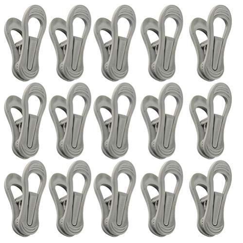 Cabilock 25 Piezas Clips de Plástico Clips de Ropa Broches de Agarre Fuerte Pinza para Los Dedos Ropa Línea de Secado Clavijas para Ropa Crey