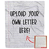Personalized Your Own Handwriting Photo Letter Blanket Throw Fleece Custom Picture Love Gift Inspirational Present to My Daughter Son Mom Dad Customized for Husband Wife (50' x 60')