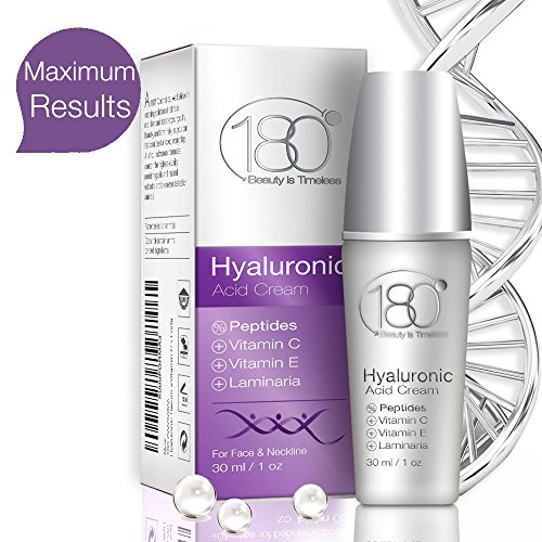 180 Cosmetics Hyaluronic Acid Cream With Peptides & Vitamin C - Get Rid Of Wrinkles From Day 1 For Age 40+, Super Strong Moisturizer Cream With Hyaluronic Acid