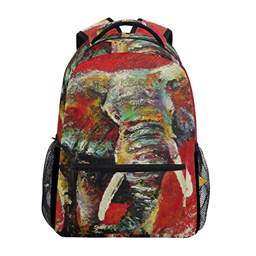 Backpack Watercolor Elephant Backpack Stylish Printed Student Travel Lightweight Gift Unique Bookbag School Shoulder Bag Casual Durable College