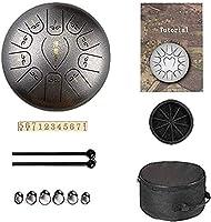 ヨガ瞑想 空のスピリットドラム12インチ11トーンスチールの舌のドラムハンドパンドラムパーカッションの楽器、キャンプ、ヨガ、瞑想のための、音楽槌と旅行のバッグ 音楽教育コンサートマインドヒーリング (Color : A)