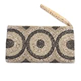 NOVICA Beaded clutch, Great Circles'