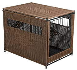 Mr. Herzhers wicker dog crate