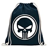 Kiwistar Punisher USA - Crâne de réservoir Fun Sac à Dos Sport Sac de Remise en Forme Gymbag Shopping Coton...
