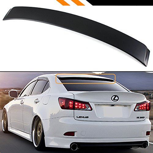 Cuztom Tuning Fits for 2006-2013 Lexus is 250/350/ ISF F Sport VIP Style Rear Window Roof Top Spoiler