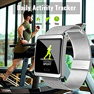 CanMixs Smart Watch, Fitness Tracker CM11 Smart Bracelet Fitness Sport Watch with Heart Rate Monitor SMS&SNS Reminder, IP67 Waterproof Sleep Monitor Pedometer Stopwatch Smartwatch for Android iOS