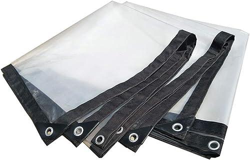 MRY Bache en plastique épaississante transparente imperméable résistante de tente de bache, taille personnalisable,CLAIR,2  6M