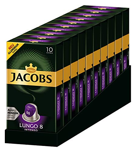 Jacobs Lungo Intenso 8 - Pods compatibles con Nespresso * (10 x 10 Pods)