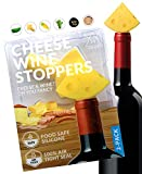 Hawwwy Funny Cheese Wine Stopper + Gift Box'Cheese & Wine? Oh You Fancy' Set of 2 Silicone Bottle Saver Fun Reusable Idea Men Women Friend Co Worker Neighbor Beverage Unique Decorative Cute Topper