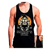 Mx Games Camiseta Gimnasio Saiyans Gym (Dragon Ball) (M, Negro)
