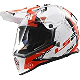 LS2 Helmets Pioneer Trigger Adventure Off Road Motorcycle Helmet with Sunshield (Red, Small)