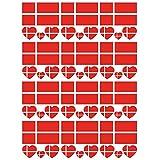 SpringPear 12x Temporär Tattoo von Flagge Dänemarks für Internationale Wettbewerbe Olympischen Spiele Weltmeisterschaft Wasserfeste Fahnen Tätowierung Flaggenaufkleber WM Fan Set (12...