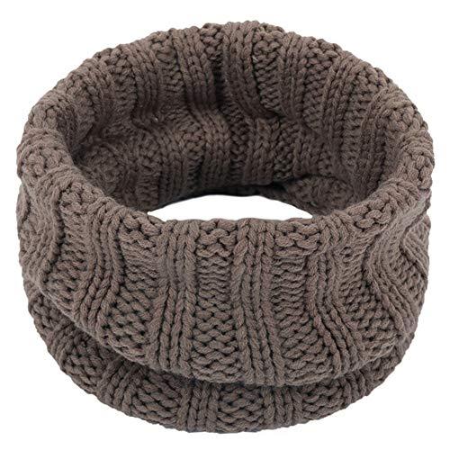 Moda otoño invierno de los niños bufanda caliente de las mujeres de los hombres de punto de algodón de color sólido collar de la bufanda de cuello de las muchachas de las bufandas de punto