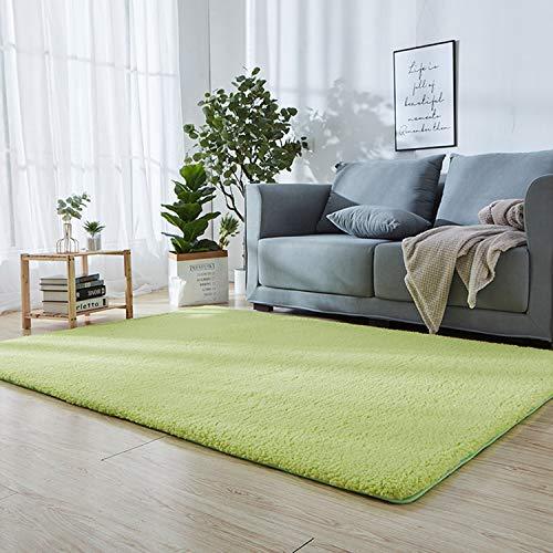 Moquetas Dormitorio Verde 130 x 170 cm Alfombra de Yoga Suave, contemporánea Lavable sofá Silla cojín