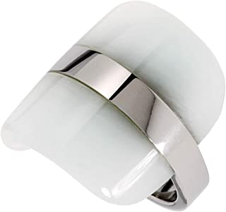 Calvin Klein Womens Polished Stainless Steel Jewelry Treasure Ring Collection