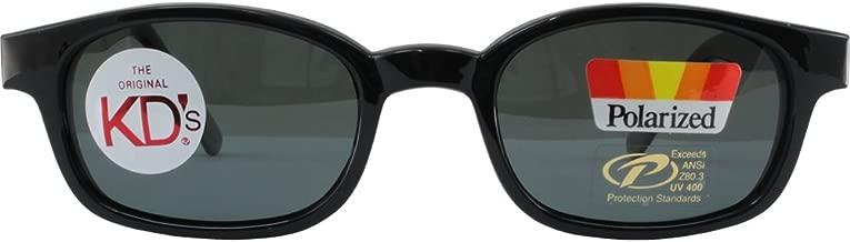 Pacific Coast The Original KD's Biker Shades By PCSUN Black Frames Polarized Grey Lenses, Black and Polarized Grey, Medium