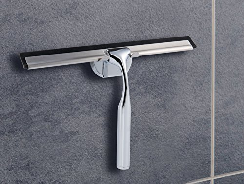 Dailyart Shower Squeegee Bathroom Glass Squeegee Window Wiper Chrome Plated and Stainless -