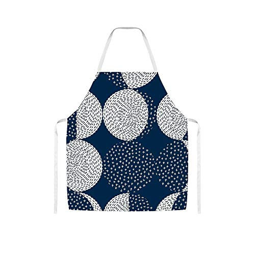 Doinh Moon Phases/Repeat Pattern Wolle Tuch Schürze für Männer und Frauen beim Kochen, Grillen und Backen