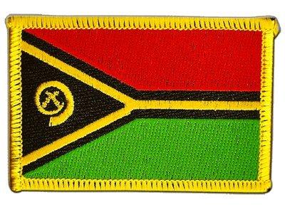 Flaggenfritze Flaggen Aufnäher Vanuatu Fahne Patch + gratis Aufkleber