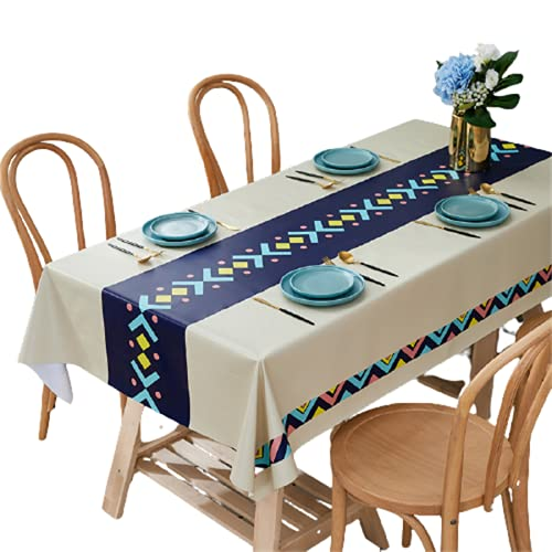 Mantel Rectangular Antiincrustante, Mantel Impermeable, Mantel A Prueba De Aceite, Mantel Cuadrado para Cocina, Mesa De Comedor, Picnic, Barbacoa, Fiesta 90x135cm