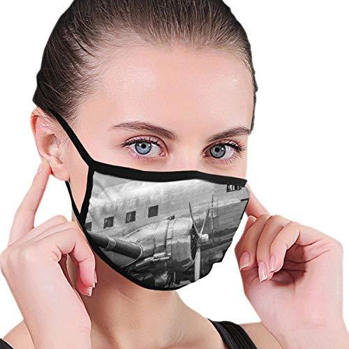 Máscaras Antipolvo Ajustables Máscaras bucales de Moda, Cabina de avión Antiguo Hélices de Motor Antiguo Imagen de alas e Nostalgia, Máscara Antipolvo para Hombres y Mujeres