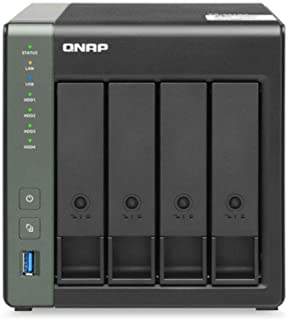 QNAP TS-431X3-4G 4 Bay Desktop NAS Enclosure - 4GB RAM, Quad-core 1.7GHz Processor - with Built-in 10GbE SFP+ and 2.5GbE R...