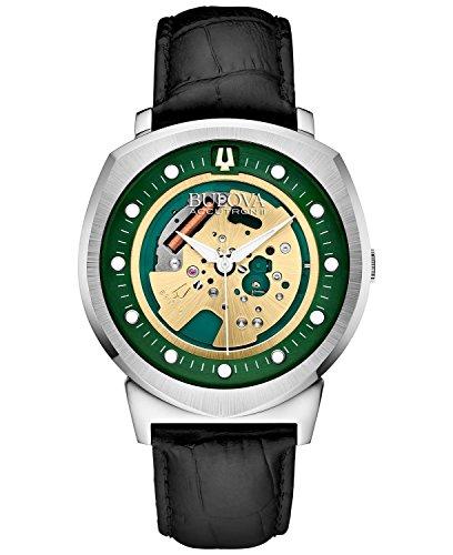 [ブローバ]Bulova 腕時計 BA11 Black Leather Strap Watch 96A155 メンズ [並行輸入品]