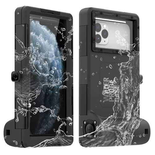 La carcasa impermeable universal para teléfono de segunda generación [15 m / 50 pies] cubierta protectora para cámara de buceo Grado impermeable estándar IPX8, con cordón, para iPhone/Galaxy
