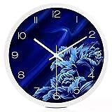 Reloj de Pared de Moda para el Hogar Bluelover Reloj de Cuarzo Grande Silencioso en la Habitación de la Estancia Moderna Reloj Electrónico Simple Creative Linked Table White Size: S, Z-B, Pequeña