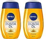 Nivea Natural Duschöl, 2er Pack (2 x 200 ml), milde Reinigung für trockene Haut, mit natürlichen Ölen