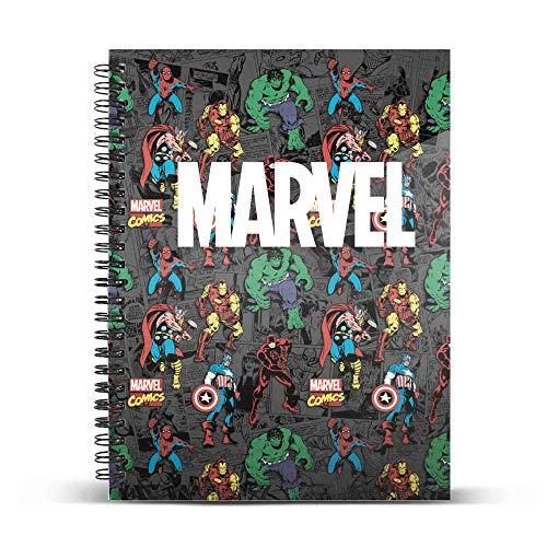 Marvel Brawl-Cuaderno Papel Cuadriculado DIN A4