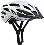 Demon Blaze Bike Helmet, CPSC Certified,11.5 OZ Weightless Edition,25 High Flow Air Vents, Removable Visor, Washable Fit Pads, Patented Fidlock Self Closing Buckle (Gloss White, Small/Med (52cm-57cm))