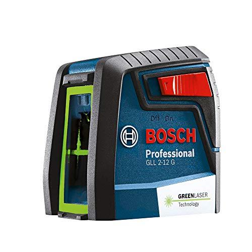 Nível a Laser de linhas verdes cruzadas 12 metros Bosch GLL 2-12 G