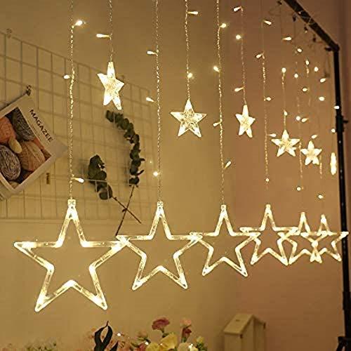 Luces nocturnas, LED integrales, luces de sensor, BoBoLily, cortina de estrellas LED, luces de decoración de habitación, para dormitorio, habitación de los niños, cocina, bebé, niños y bebés
