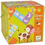 Djeco- Juegos familiaresDominóDJECOEducativos Domino Granja, Multicolor (15)