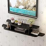 QARYYQ Soporte de TV flotante montado en la pared, consola multimedia for enrutador WiFi, caja de TV, decodificador, altavoz, dispositivo de transmisión de la consola del juego Estante de montaje en p