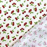 MAGAM-Stoffe Kirschen wasserdicht Kinderstoff PU-Baumwolle