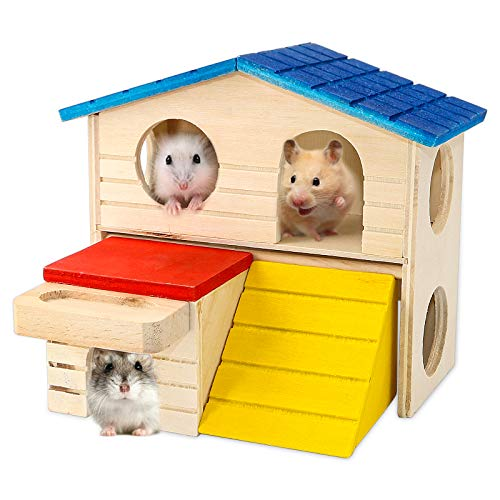 BWOGUE Pet Small Animal Hideout Hamster House...