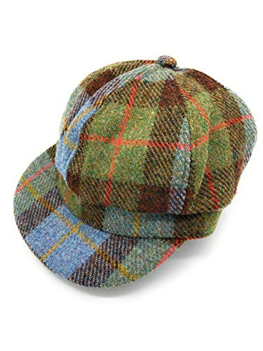 Harris Tweed Baker Boy Cap Macleod Tartan - Made in UK