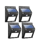 Salandens Luces Solares - 48 LED Lámpara Solar Exterior Solar Luz LED...