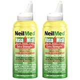 NeilMed Nasal Mist Extra Strength Nasal Saline Spray, 4.2 fl oz (Pack of 2)